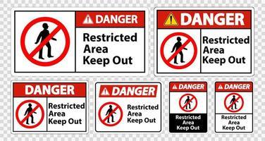 área restrita de perigo, mantenha sinais