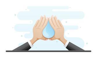ilustração de conceito de lavar as mãos vetor