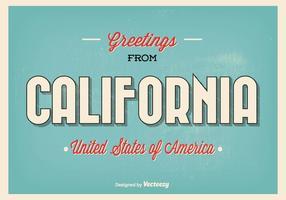 Saudações da ilustração da Califórnia vetor