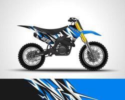 adesivo de vinil de motocross vetor