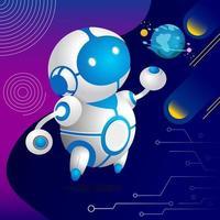 cuidado terra robô vetor