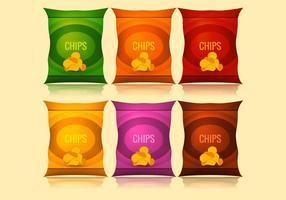 Bolsa de chips de vetor