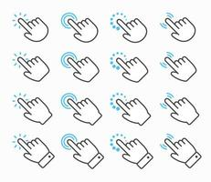 conjunto de ícones de cursor de mão