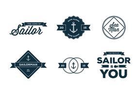 Vetores de tipografia velhos da Nautica