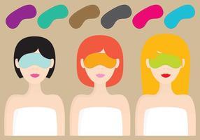 Mulheres com máscaras de sono vetor