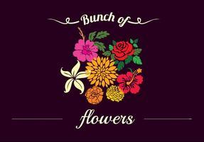 Fundo floral decorativo vetor