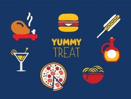 Conjunto de ícones de alimentos