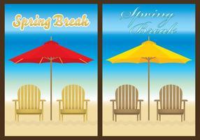 Modelos de praia de cadeira vetor