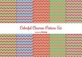 Conjunto colorido de padrões de Chevron vetor