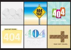 404 telas da Web vetor