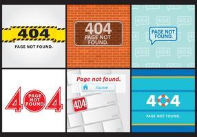 404 telas de erro vetor