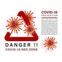 bloqueio e prevenção covid-19 vetor
