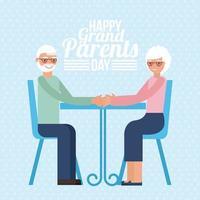 cartão do dia dos avós vetor