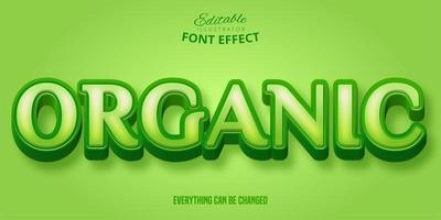 efeito de fonte verde com serifa orgânica vetor