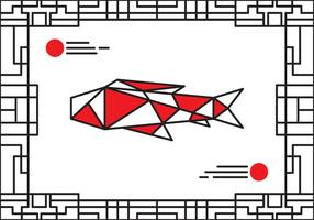 Ornamentos japoneses gratuitos de Matsuba vetor