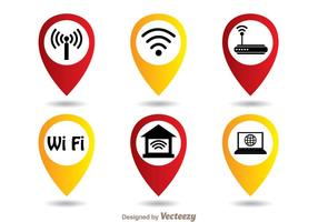 Conjunto de símbolos Wifi vetor