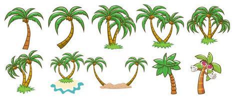 conjunto de palmeira vetor