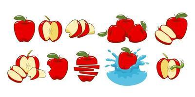 conjunto de elementos de maçã vetor