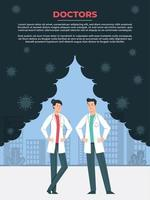 médicos trabalhando juntos para a saúde mundial vetor