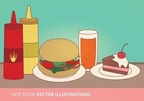 Ilustrações de vetores de fast food