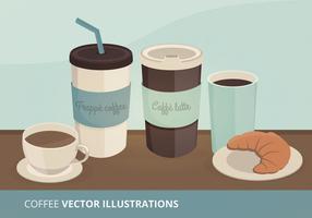 Ilustrações do vetor do café
