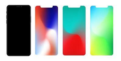 papel de parede de malha de gradiente definido para smartphone vetor