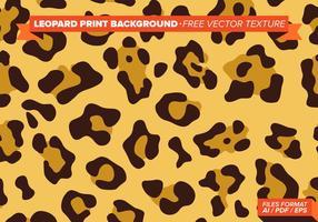 Fundo de impressão Leopard textura de vetores grátis