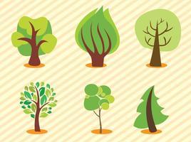Árvores vetoriais vetor