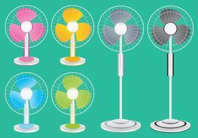 Vetores de ventilador coloridos