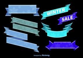 Fitas de inverno azul vetor