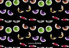 Olhos coloridos assustadores vetor