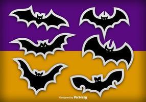 Bats adesivos vetor