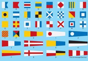 Vetores de bandeira náutica