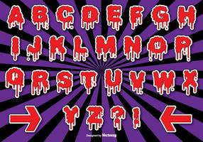 Conjunto do alfabeto do Dia das Bruxas vetor