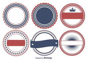 Conjunto de forma de emblema patriótico colorido vetor