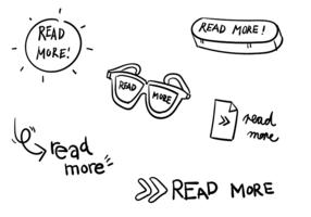 Simples Leia mais Ícones vetor