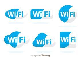 Símbolo azul Wifi vetor