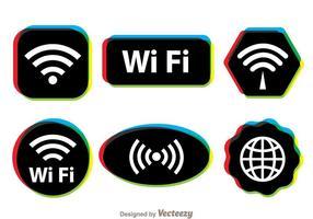 Símbolo multicolor Wifi vetor