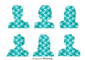 Avatar padrão do mosaico azul vetor