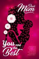 feliz dia das mães design criativo cartaz vetor