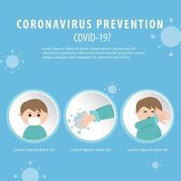 cartaz de prevenção covid-19 vetor