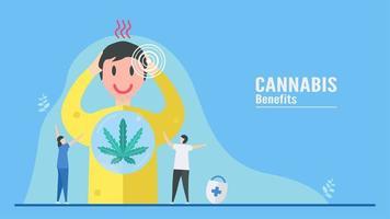 benefício do design da cannabis vetor