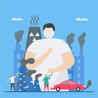 poluentes no design da atmosfera vetor