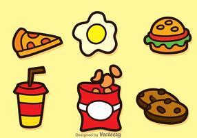 Ícones Fatty Food vetor