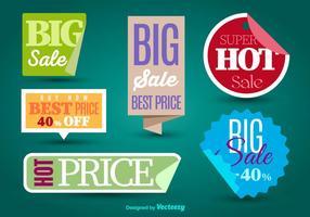 Etiquetas de venda vetor