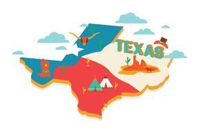 Vetor do mapa do Texas