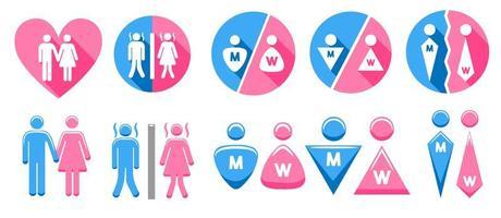 conjunto de sinal de gênero vetor