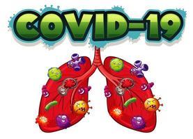 projeto de tipo para covid-19 vetor