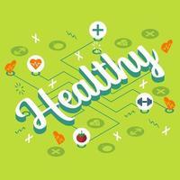cartaz de infográfico de estilo de vida e alimentos saudáveis vetor