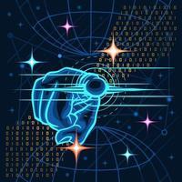 dedo de mão apontando tecnologia para fora vetor